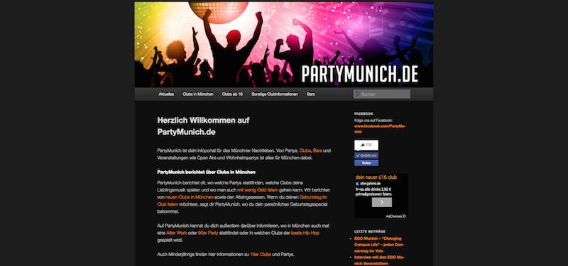 PartyMunich.de ändert sein Konzept