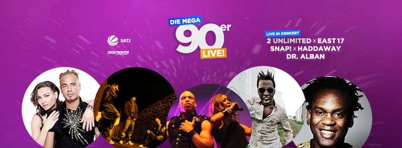 Die MEGA 90er Live! in der Olympiahalle am 27.11.2015