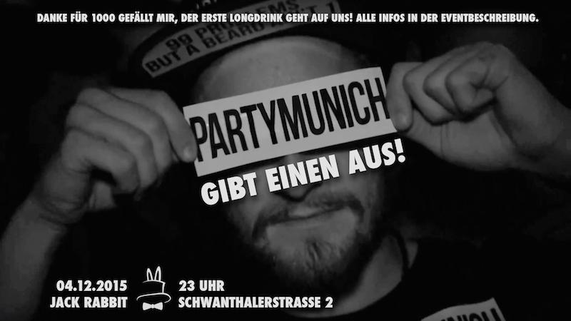 PartyMunich sagt Danke – Longdrinks 4 Free – 04.12.2015 im Jack Rabbit