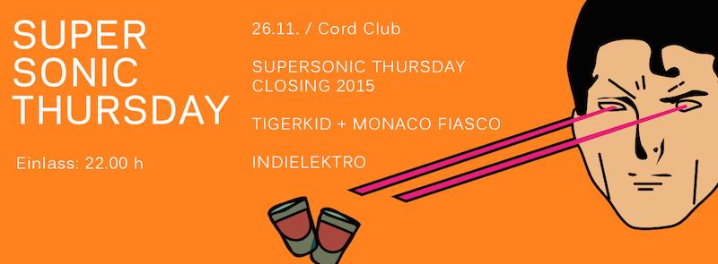 Supersonic Thursday Jahresabschluss am 26.11.2015